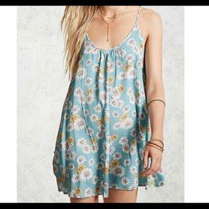 2 Forever 21 daisy print mini dresses